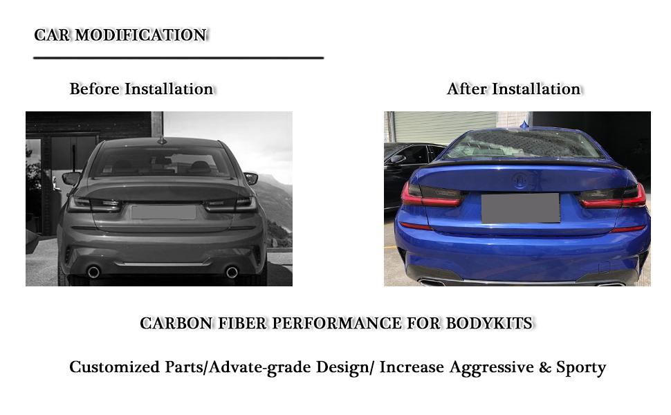 for BMW 3 Series G20 320i 330i 330e M340i 318d 320d 330d Sedan 2019 carbon fiber spoiler