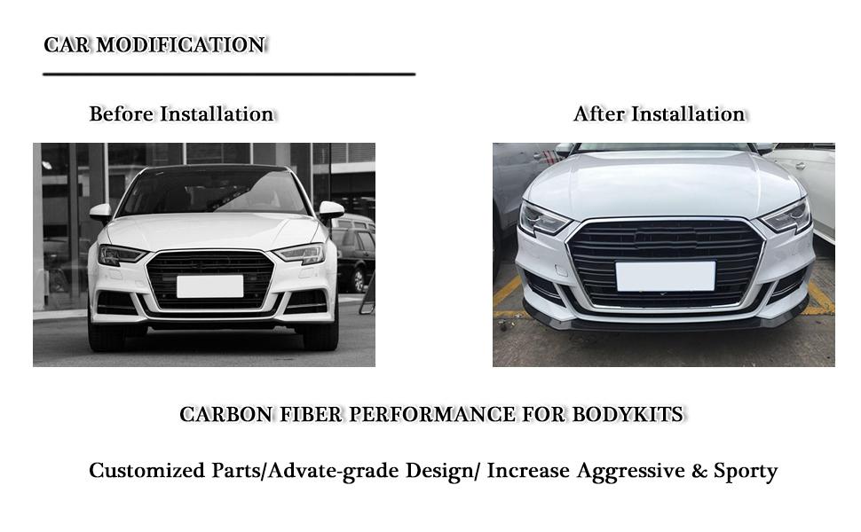 Amazon Com Mcarcar Kit Front Spoiler Fits Audi A3 Sline