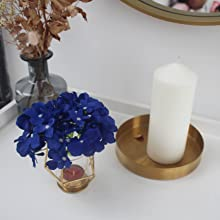 navy blue silk hydrangea