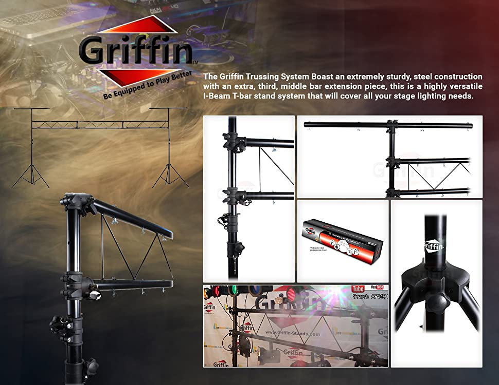 Amazon Com Dj Light Truss Stand System By Griffin I Beam