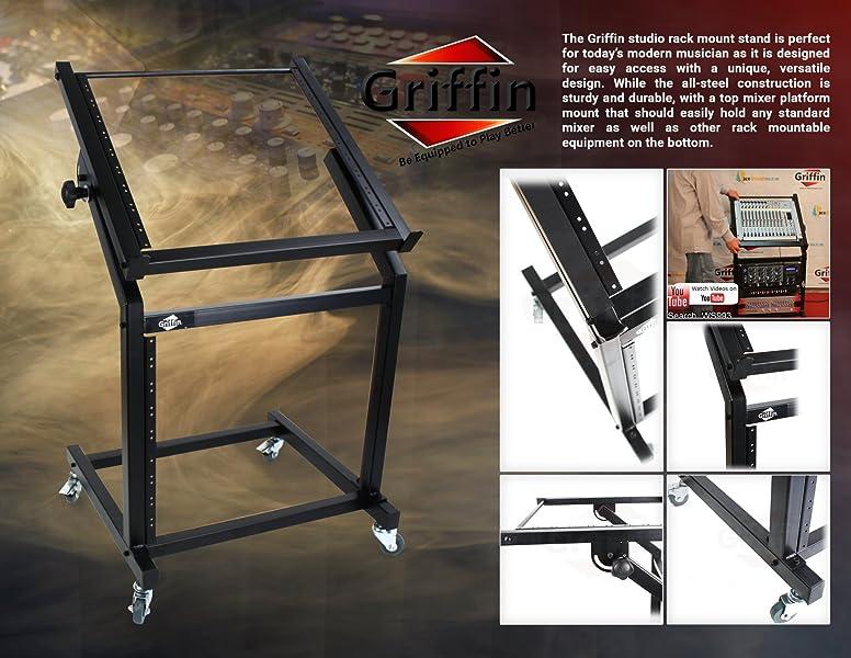 19u Mixer Studio Rack Stand On Wheels Specifications