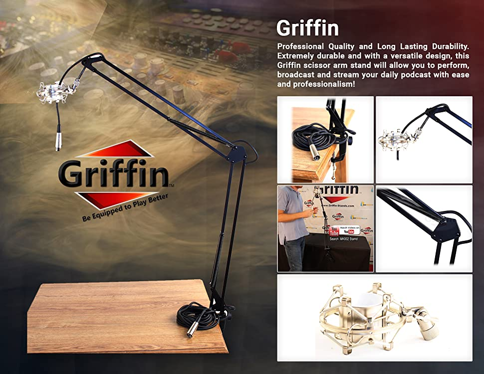 Amazon Com Scissor Microphone Arm Stand Kit By Griffin