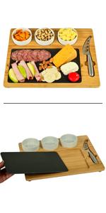 Slate Bamboo Cheese Board Charcuterie
