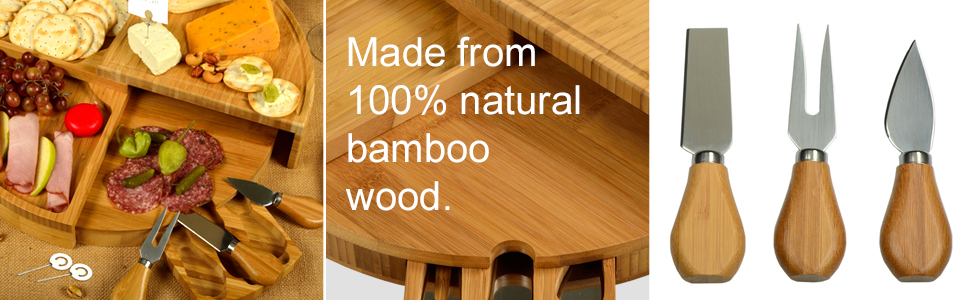 Bamboo Cheese Board Details