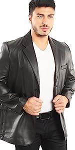 Lamb Leather Blazer Jacket