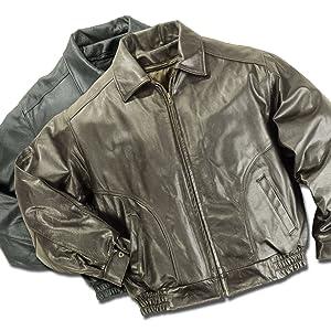 Leather Bomber Jacket Classic