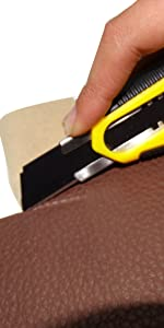 Utility Knife Plus 10 Super Sharp Blades Set for Cutting Cardboard, Plastic, Leather, Carpet, Rope