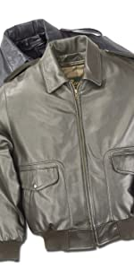 Air Force Leather Flight Bomber Jacket