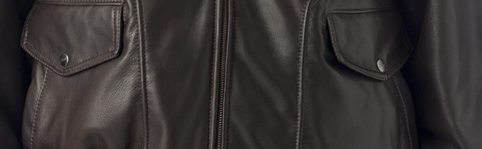 7bc74f9870e REED Men s Bomber Leather Jacket Union Made in USA at Amazon Men s ...