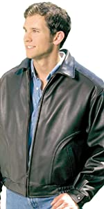 All American Bomber Leather Jacket Union Made in USA