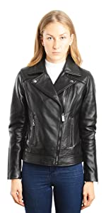 Lambskin Leather Biker Fashion Coat