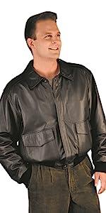 Premium Leather Aviator Bomber Jacket