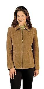 Genuine Suede Leather Fashion Jacket
