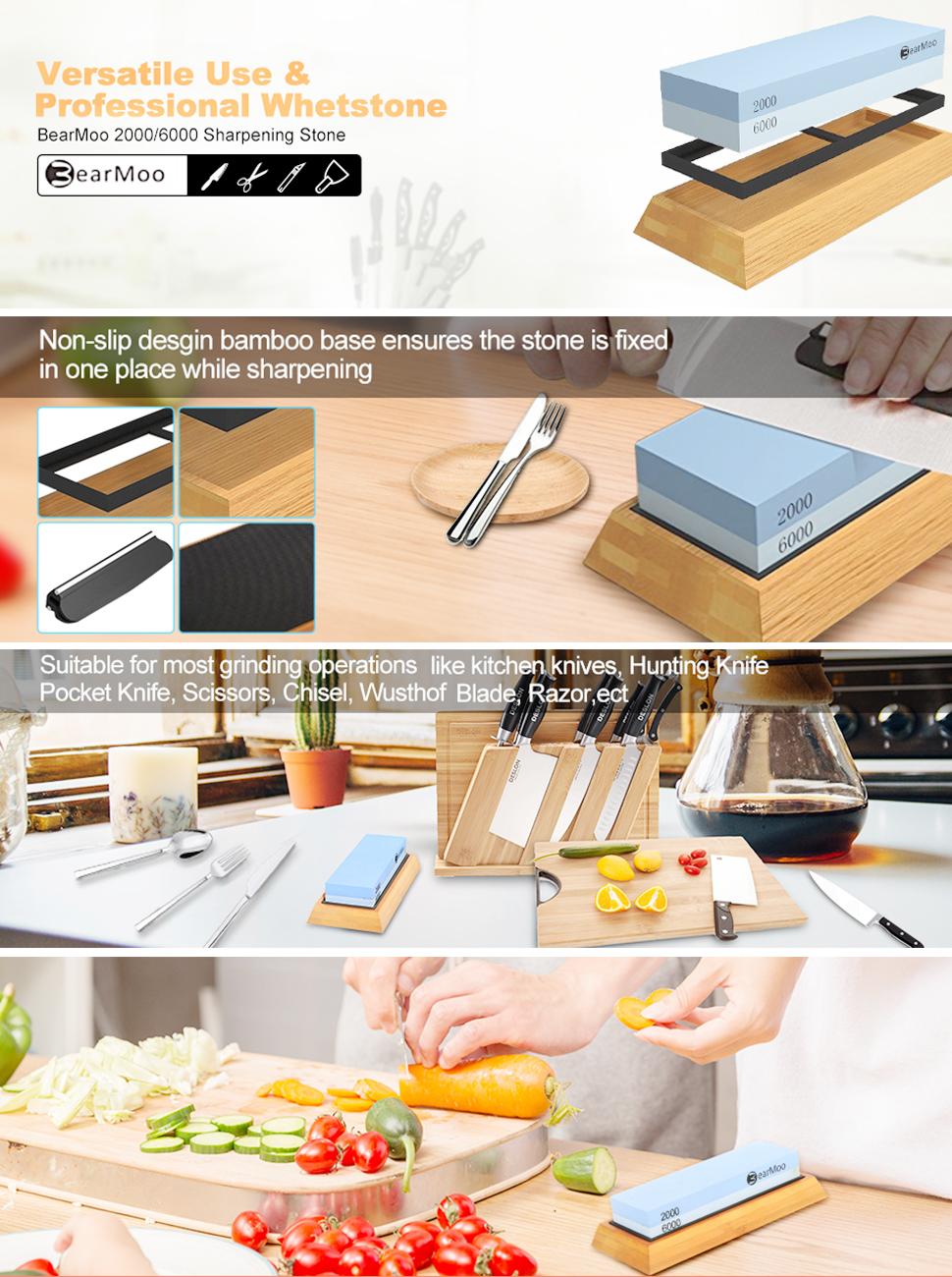 amazon com sharpening stone for knives bearmoo professional