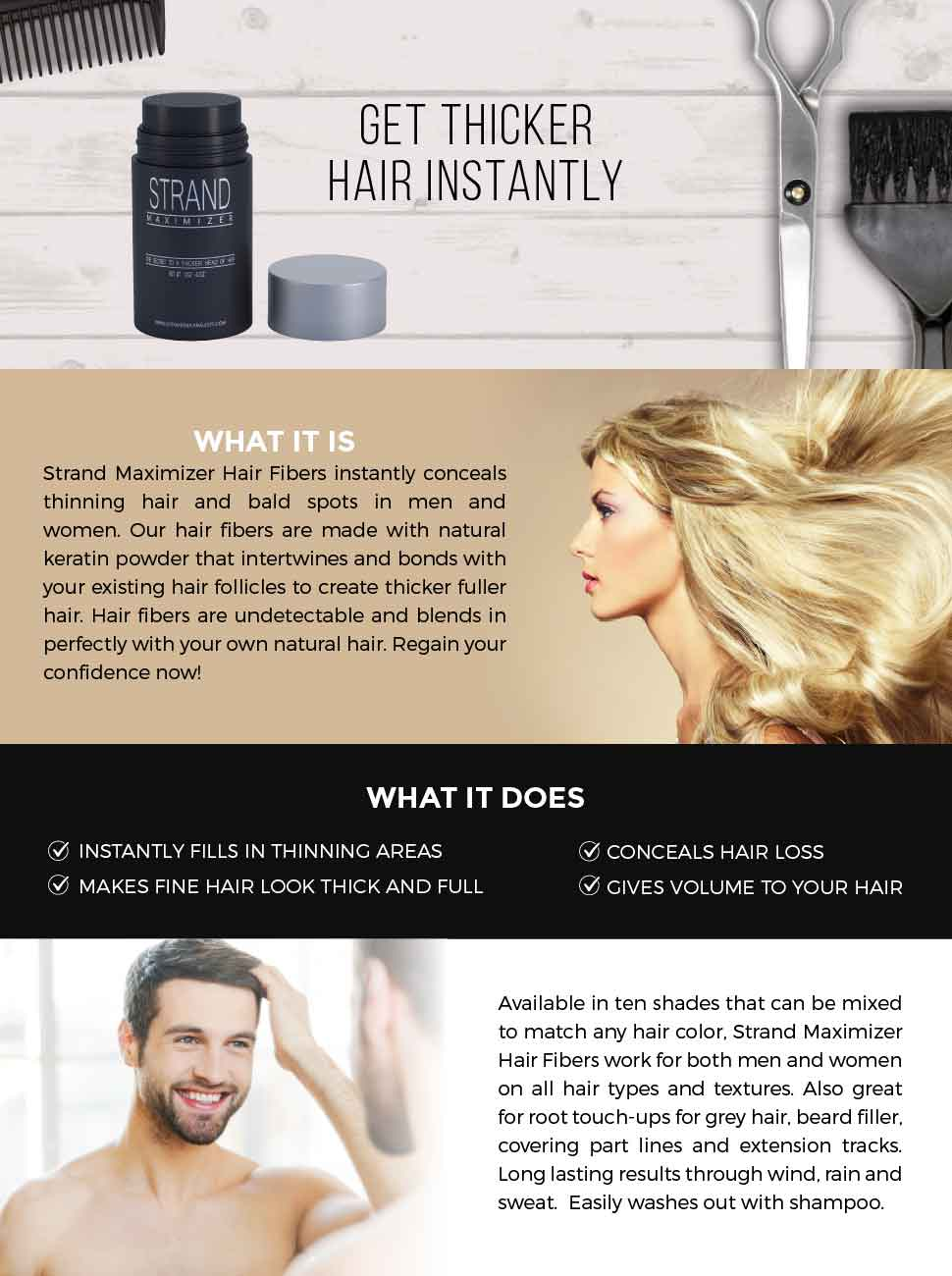 Amazon Hair Fibers Conceal Hair Loss Thinning Hair And Bald