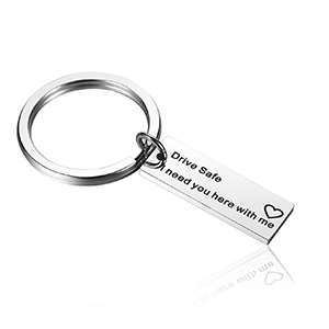 Drive Safe Keychain,I Need You Here with Me Trucker Husband Gifts for Husband Dad Boyfriend Gifts Valentines Day Gifts Stocking Stuffer, Birthday ...