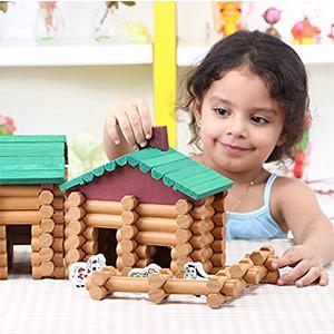 logs house