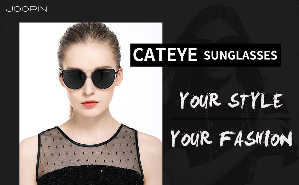 eddefdd2fe Amazon.com  Joopin Polarized Cat Eye Sunglasses for Women Metal ...