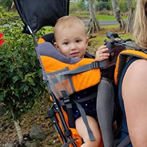 834c3eed17f Amazon.com  Luvdbaby Premium Baby Backpack Carrier for Hiking with ...