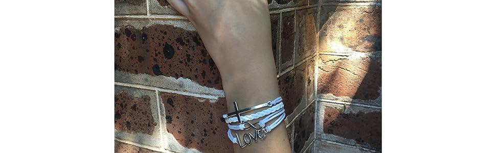 christian bracelet white confirmation