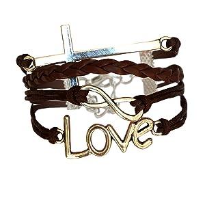 brown christian bracelet natural