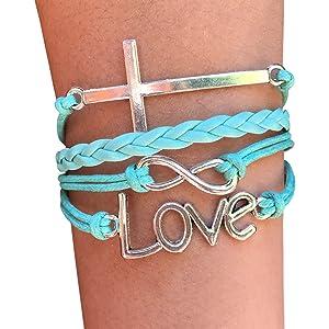 blue christian bracelet