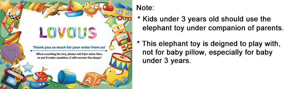 LOVOUS Super Soft Cute Big Stuffed Elephant Plush Doll, Baby Elephants Toys (Yellow)