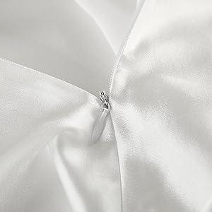 silk pillowcase zippered