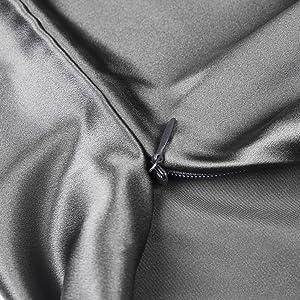 dark grey pillowcase