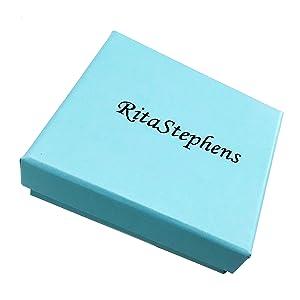 Ritastephens company brand name logo jewelry gift box