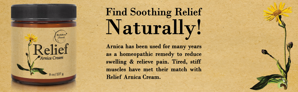 Arnica Cream Relief Lotion Essential Oil Pain Tired homeopathic arthritis