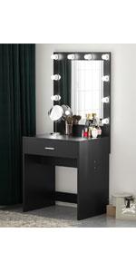 10 LED Lighted Vanity Makeup desk