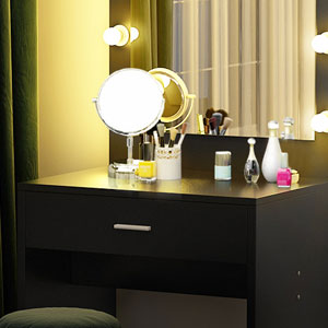 Amazon Com Tribesigns Vanity Set With Lighted Mirror