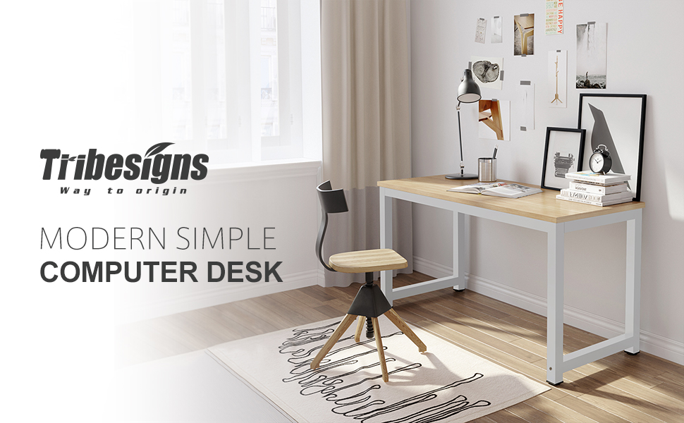 "Simple Modern Office Desk Portable Computer Desk Home: Amazon.com : Tribesigns Computer Desk, 47"" Modern Simple"