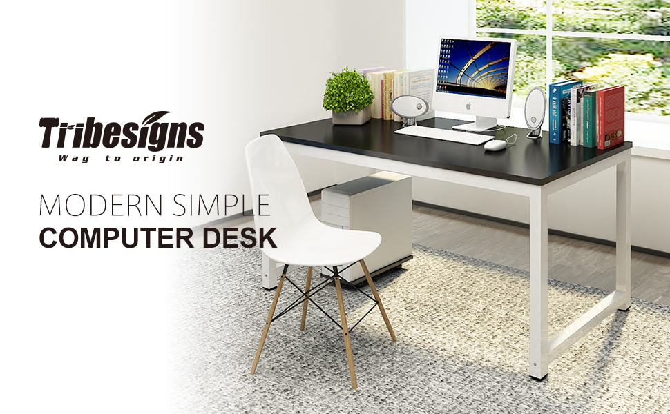 Simple Modern Office Desk Portable Computer Desk Home: Amazon.com : Tribesigns Modern Simple Style Computer Desk