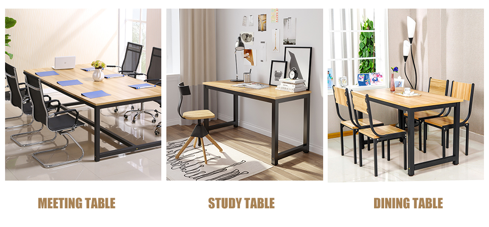 Multifunction: Can Be Used As Computer Desk, Office Workstation, Study  Table, Meeting Desk, Home Desk Even Dining Table. Personalize Your Home  Office With ...