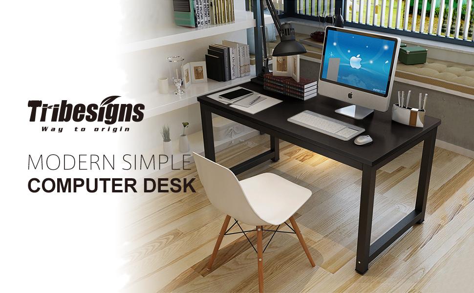 Amazon.com : Tribesigns Modern Simple Style Computer Desk PC Laptop ...