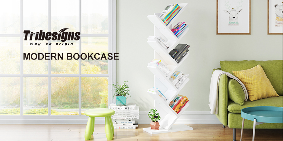 Amazon.com: Tribesigns 9-Shelf Tree Book Shelf, Modern