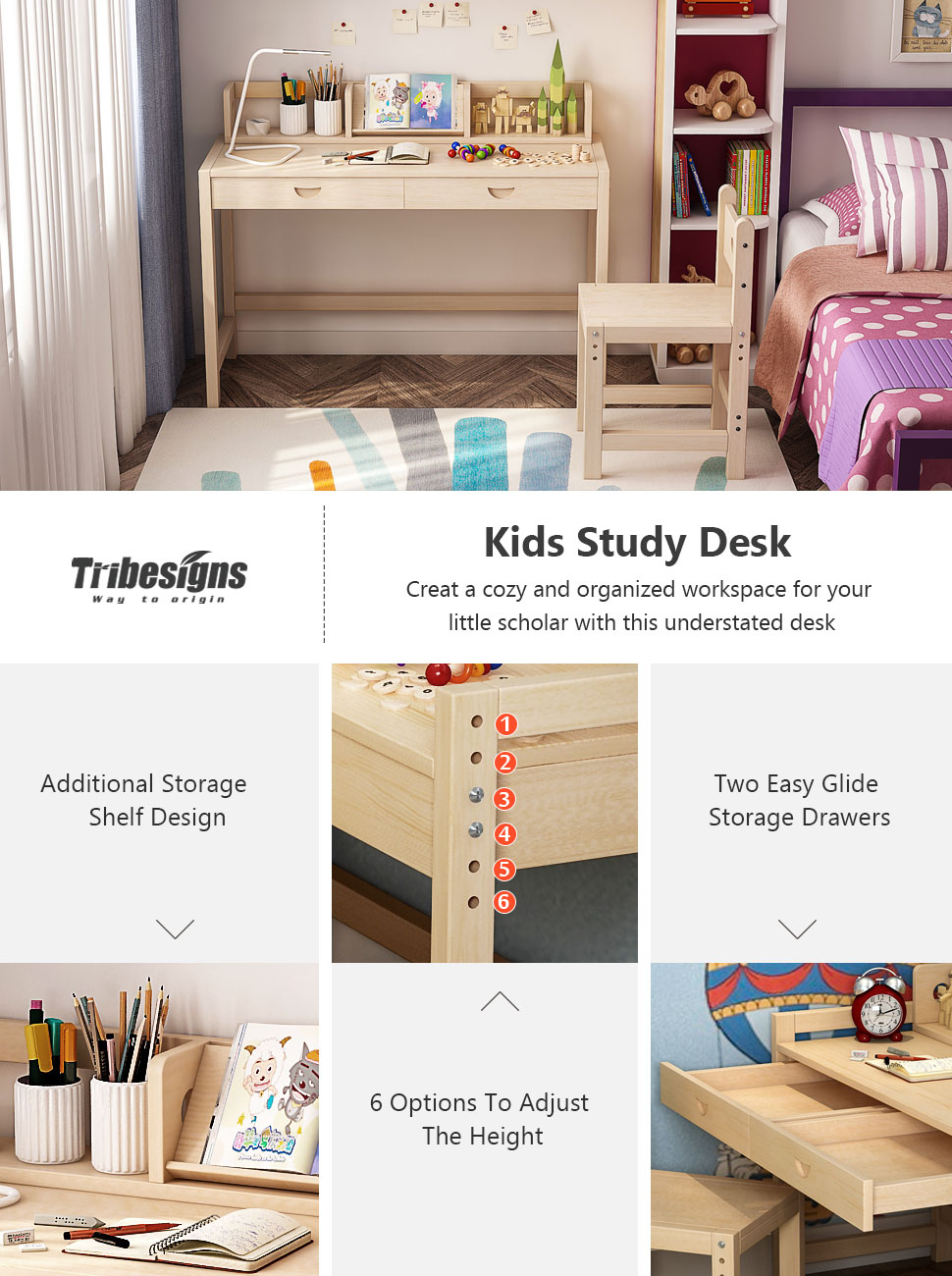 chair spot perfect with up ttw study com dp unfinished the desk art projects chairs and finishing writing on kids their set adjustable or tribesigns working bookshelf gives for homework a amazon