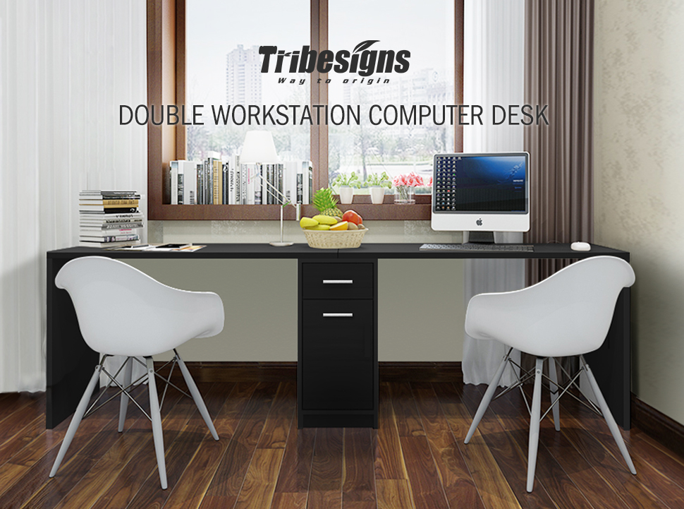 Amazon.com : Tribesigns Double Workstation Computer Desk