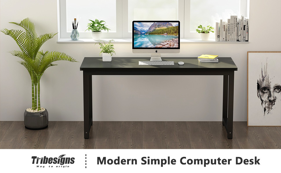 Amazon Com Tribesigns Computer Desk 55 Inch Large Office