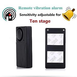 Mengshen Wireless Vibration Alarm, Anti-Theft Burglar Alarm for Bicycle/Bike/Motorcycle/Car/Vehicles/Door/Window, 110db Super Loud (Remote Control ...