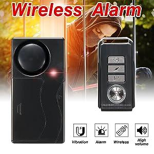 Mengshen Wireless Vibration Alarm Anti-Theft Burglar Alarm for 110db Super Loud