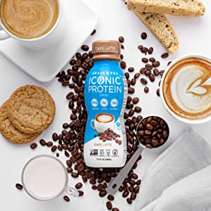 iconic protein drinks cafe lattee coffee protein shakes keto protein coffee low carb drinks