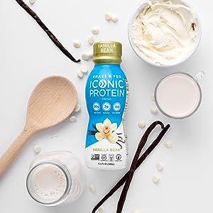 iconic protein drinks vanilla bean low carb keto shakes keto protein zero carb low calorie low sugar