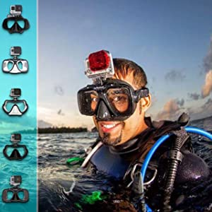 ​​GoPro Hero5 and Session Dive Mask for Scuba Diving