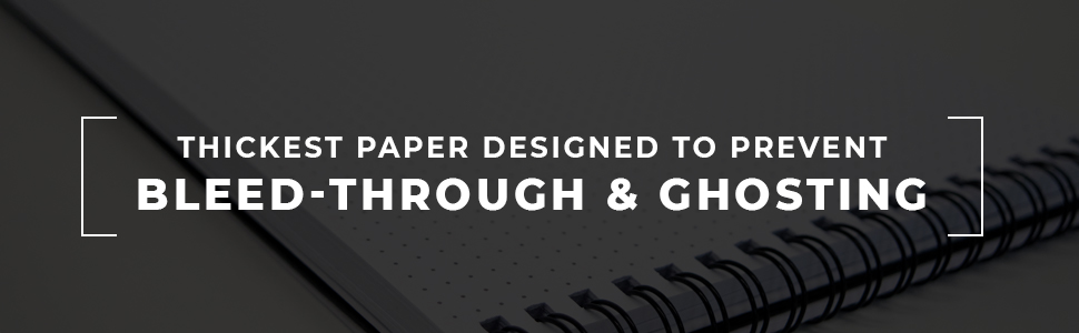 """Dotted Spiral Notebook Perfect Pair For Laptop Work Lays Flat On Desk 6/"""" x 11/"""" Premium Thick Paper and Sturdy Cover Portage Desktop Grid Dot Journal"""