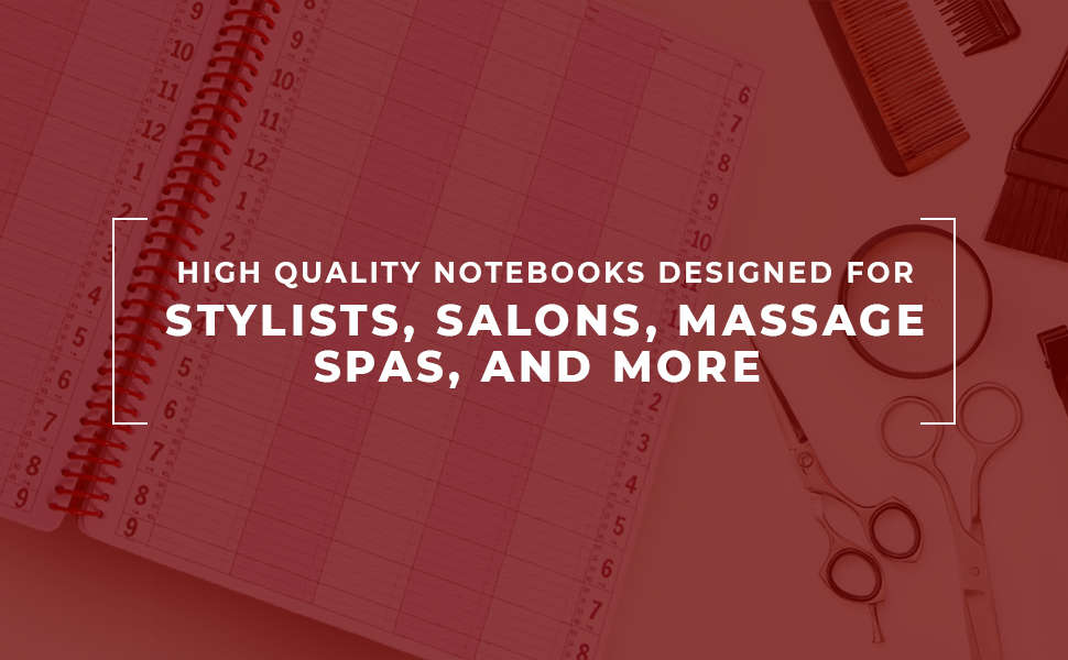 8 Column Undated Appointment Book – Eight Person Daily and Hourly Schedule Notebook for Salons, Massage Spas, Hairdressers, Stylists, and More – 200 ...