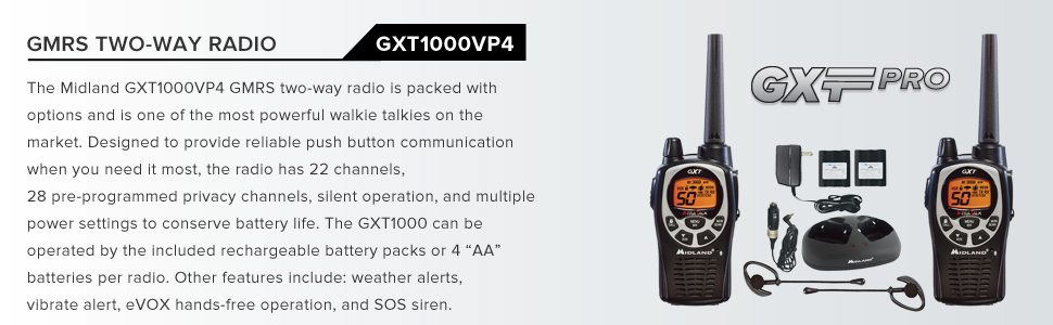 efficient radio communication outdoors walkie talkie range channels emergency weather severe warning