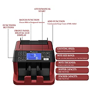 bill counting  money counter machine